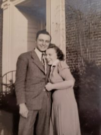 Walter & Gloria Schlagel smile loving for the camera in 1946. Photo provided.