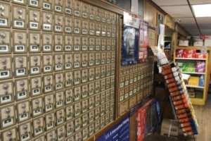 P.O. boxes in the general store