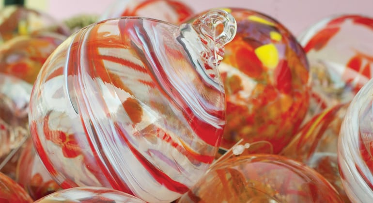Glass blown ornaments