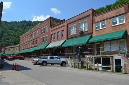 store fronts in Matewan