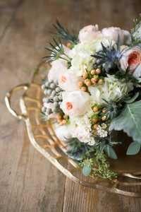 metal and wood wedding details