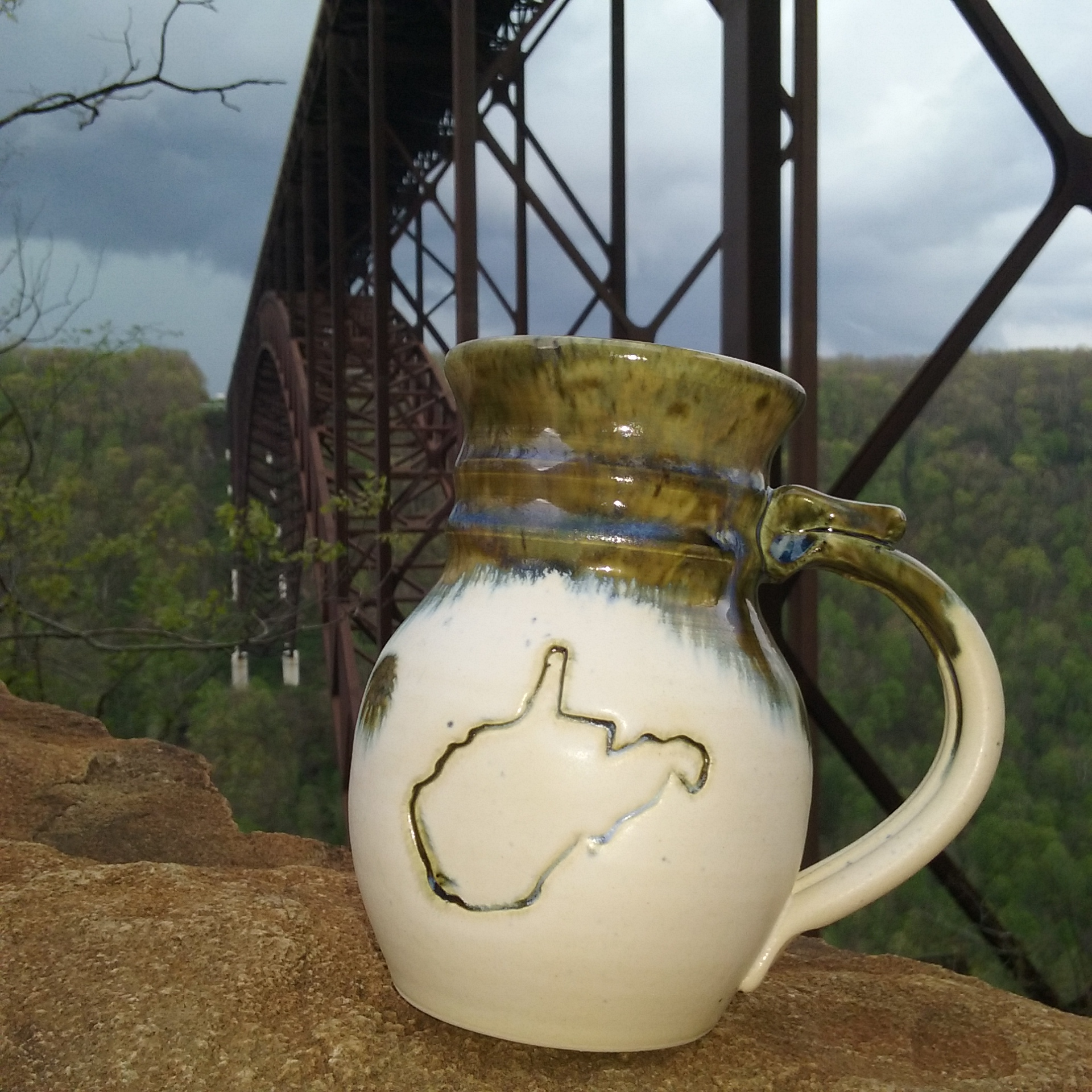 Handmade Personalized Wv Mug Mugs Collectable Travel Mugs State Handcrafted Stoneware Handmade