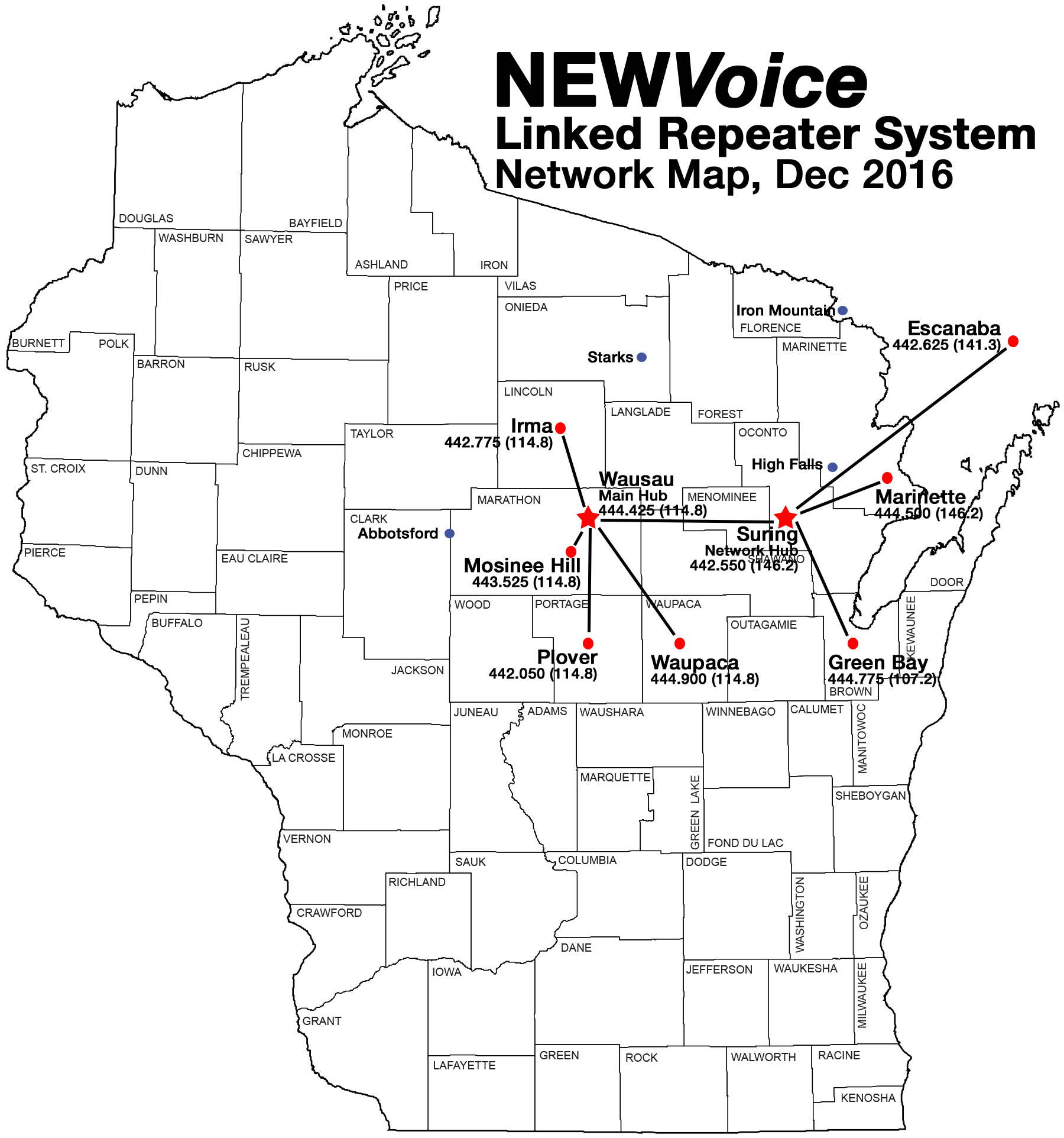 900 Amateur Repeaters In Wisconsin