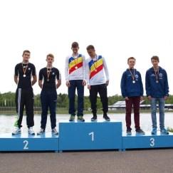 Siegerehung Deutsche Meisterschaft Marathon, 2. Platz Julian Herold und Daniel Lange, Bild von Anja Herold