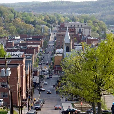Downtown Morgantown (Photo: Mary Margaret Chambliss, Southern Living)