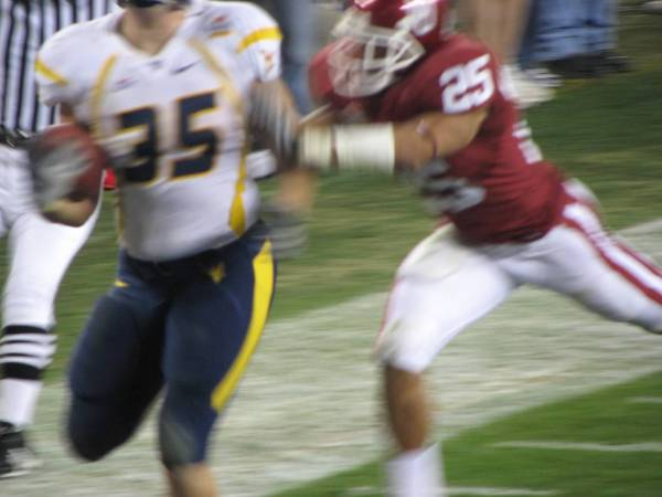 Owen Schmitt's 57-yard touchdown run in 2008 Fiesta Bowl