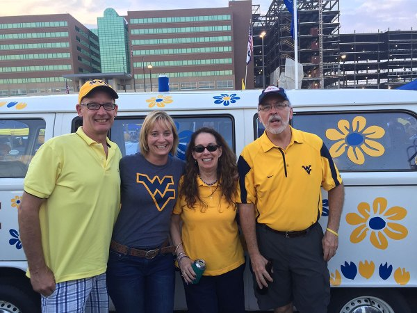 Always look forward to stopping by Harry and Linda's tailgate in the blue lot.