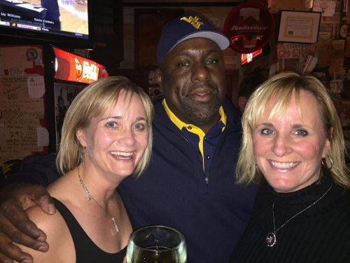 Missy and I with Major Harris at Mario's Fishbowl