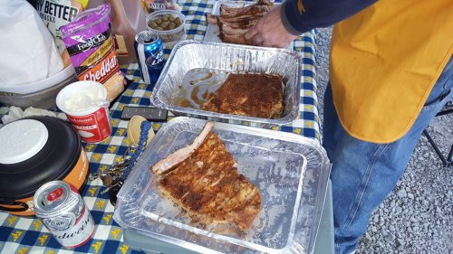 Ribs for the WVU vs. Texas tailgate