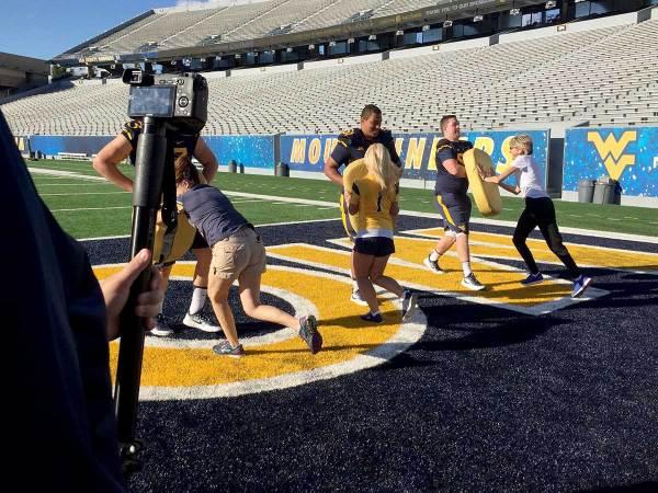 WVU Football Players School The Ladies on Gridiron Basics