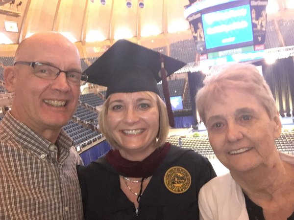Dave, mom and me at WVU graduation