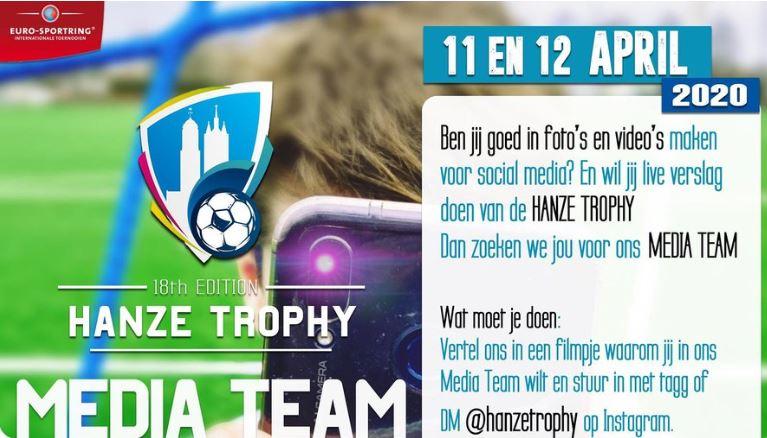 Hanze Trophy, het internationale voetbal evenement in Zwolle Zuid, op 11 en 12 april zoekt Instagrammers voor het Media Team!