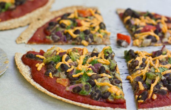 High Protein Tortilla Vegan Pizza