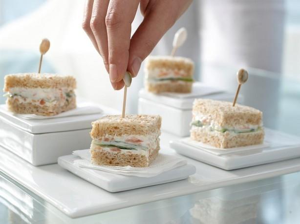 Weight Watchers Cucumber Sandwiches with Smoked Salmon Cream recipe