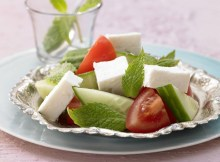 Weight Watchers Feta Cheese Salad with Tomatoes, Cucumbers & Fresh Mint recipe