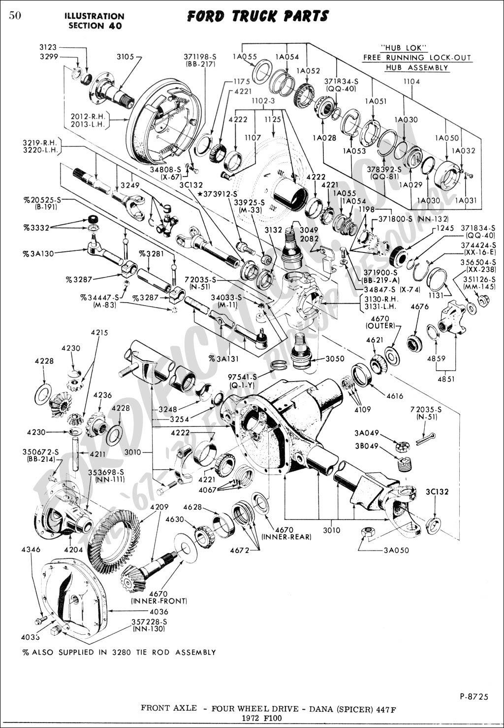 1978 ford 4x4 hub assembly diagram