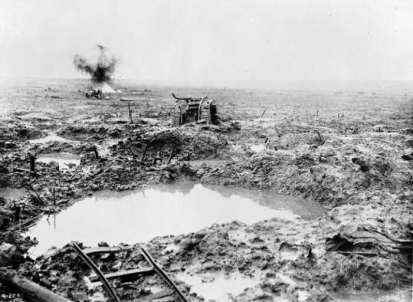The Passchendaele battlefield