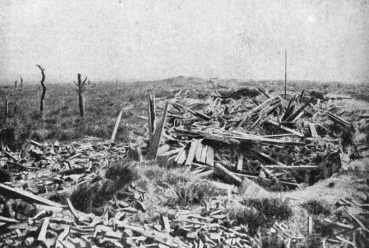 Ruins of Passchendaele Village during the Great War