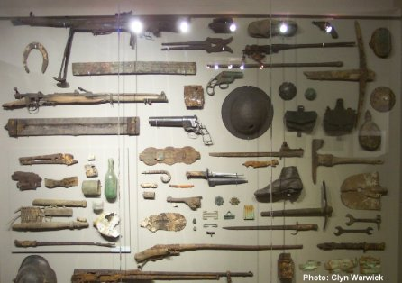 Displays at the Passendale Memorial Museum