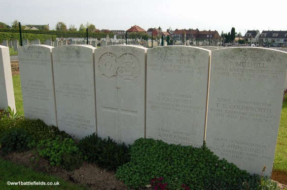 Mass grave at Albert Communal Cemetery Extension