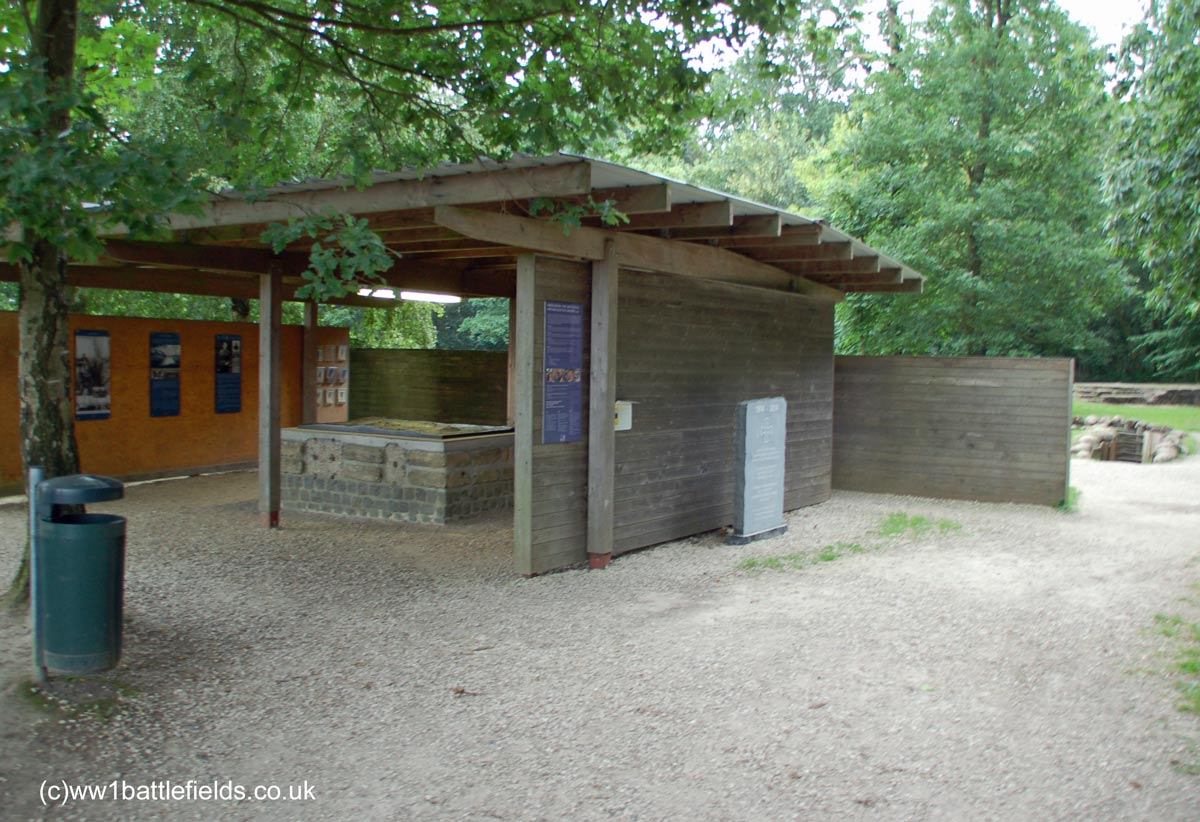 Information area at Bayernwald Trenches