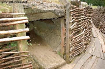 Entrance to a bunker at Bayernwald