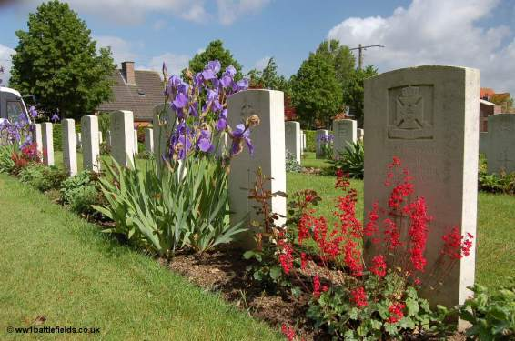 Flowers at Kemmel Chateau Military Cemetery