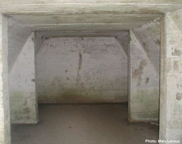 Interior of the operating theatre bunker at Essex Farm