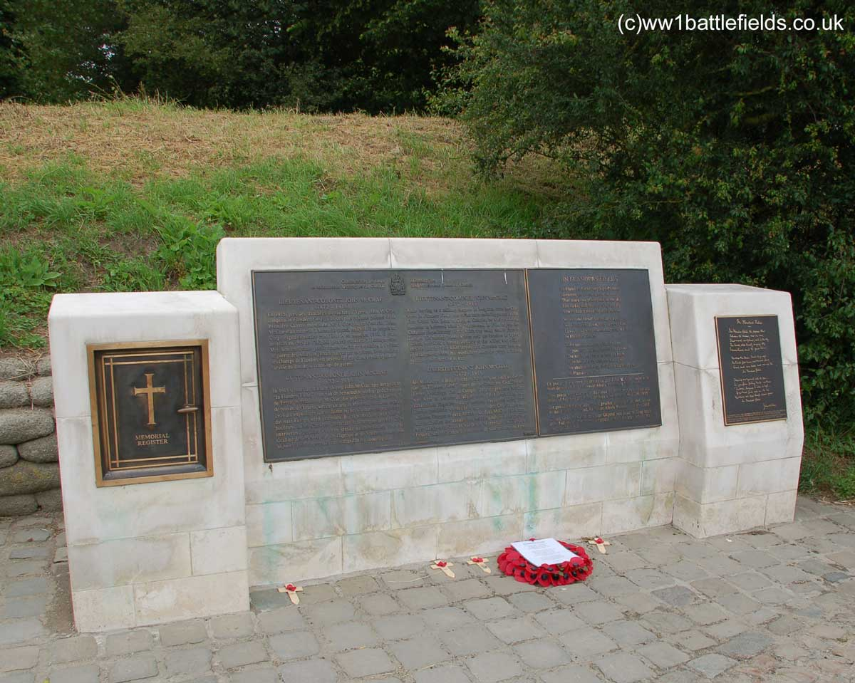 McCrae Memorial at Essex Farm