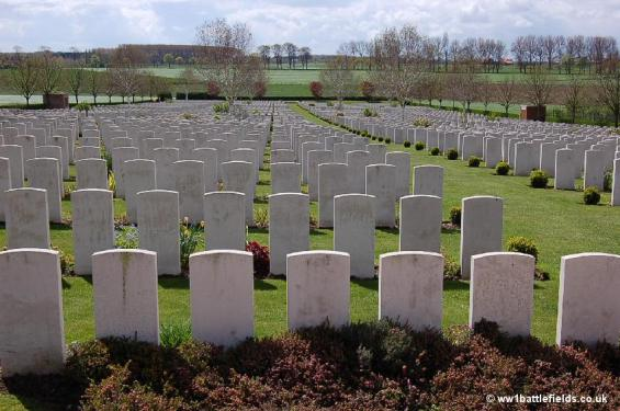 Graves at Hooge Crater Cemetery