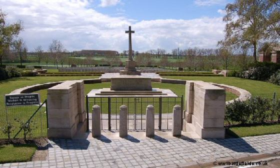Hooge Crater Cemetery today