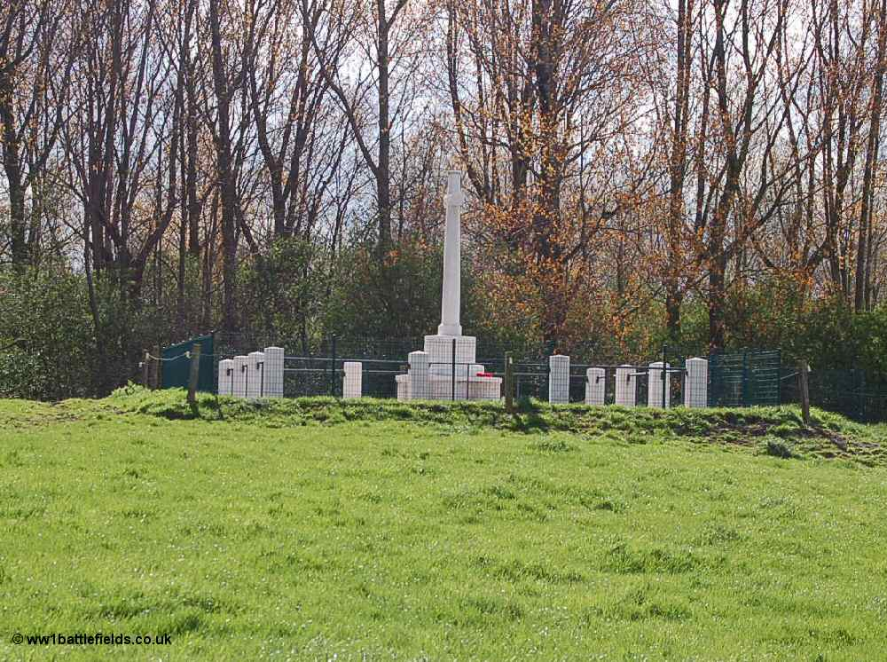 RE Grave at Railway Wood