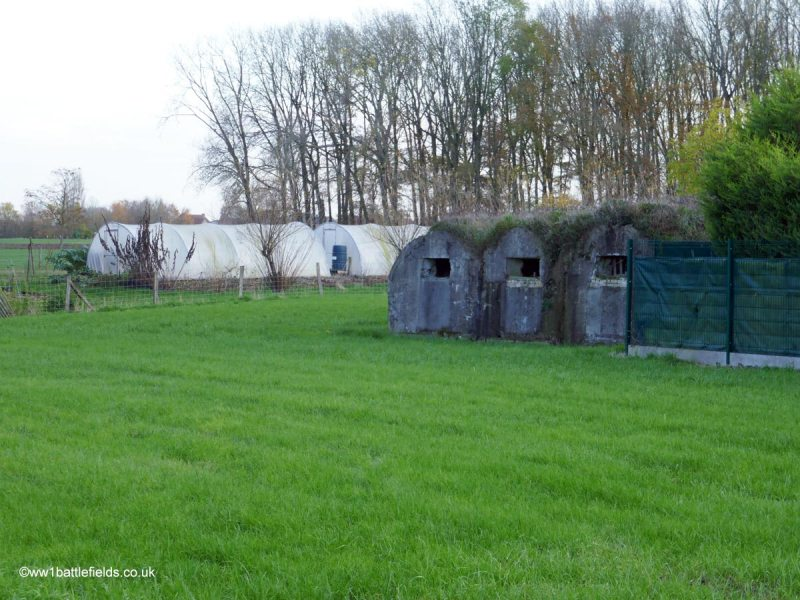 Bunkers near Strand Cemetery, Plugstreet