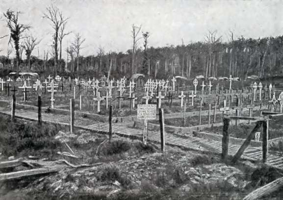 The Royal Berkshire Cemetery Extension in 1919. Photo from Michelin Guide to Ypres