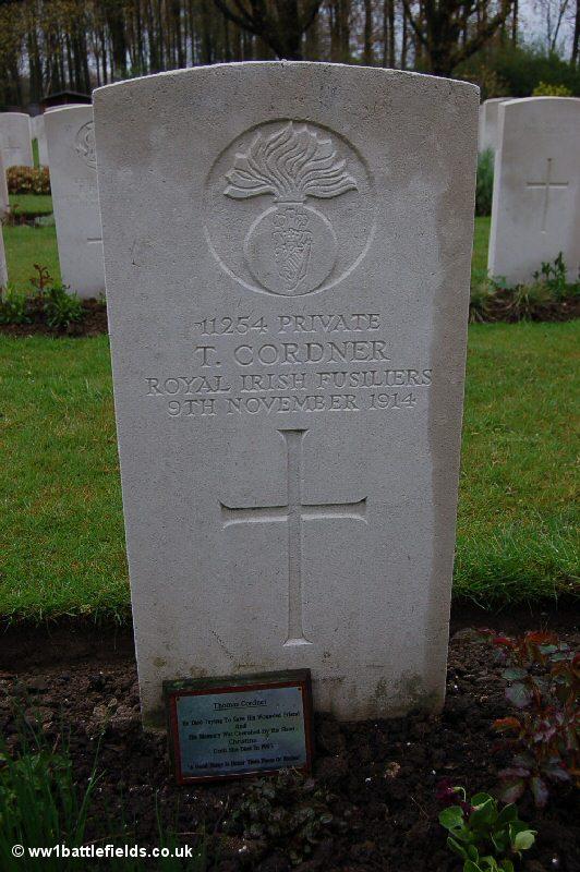 Grave of Private Thomas Cordner