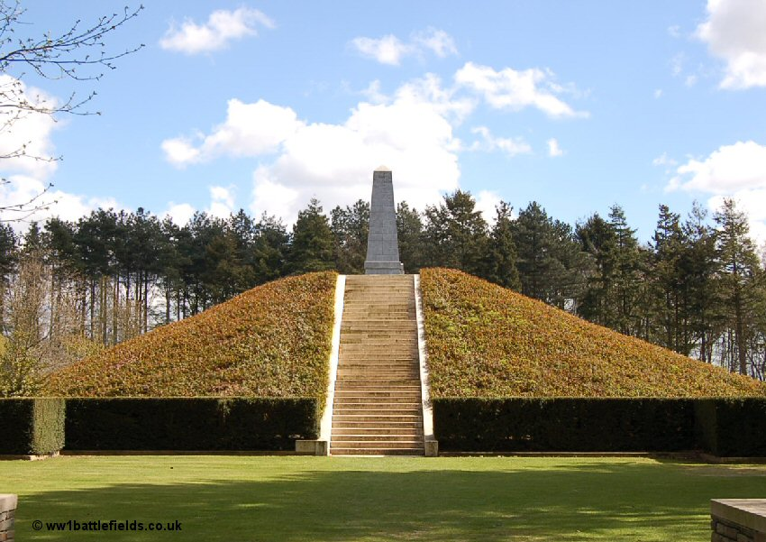 The 5th Australian Division Memorial on the Butte