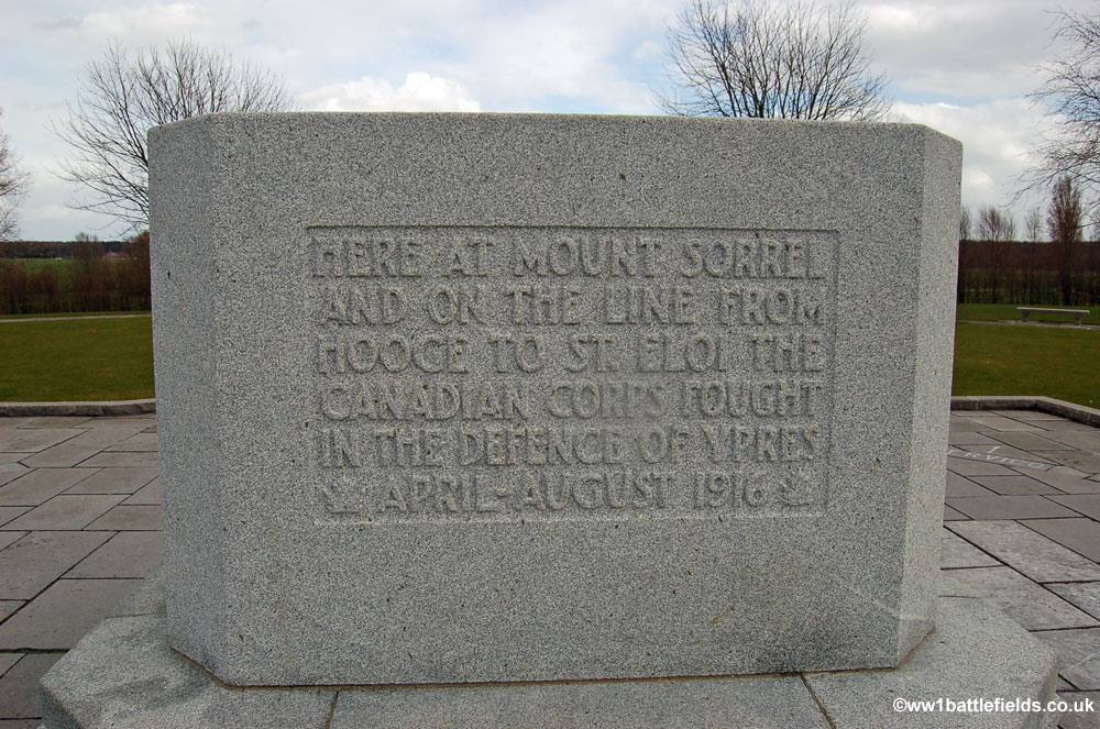 Inscription on the Canadian Memorial