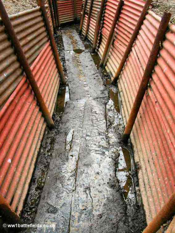 Trenches in winter