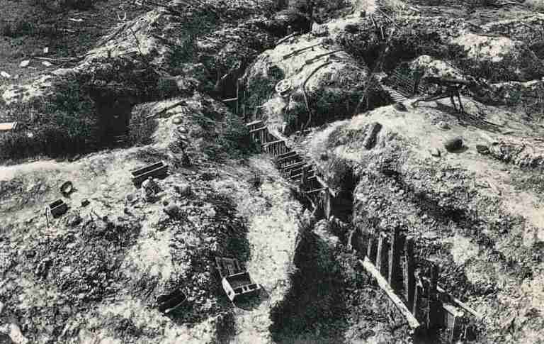 Sanctuary Wood preserved trenches between the wars