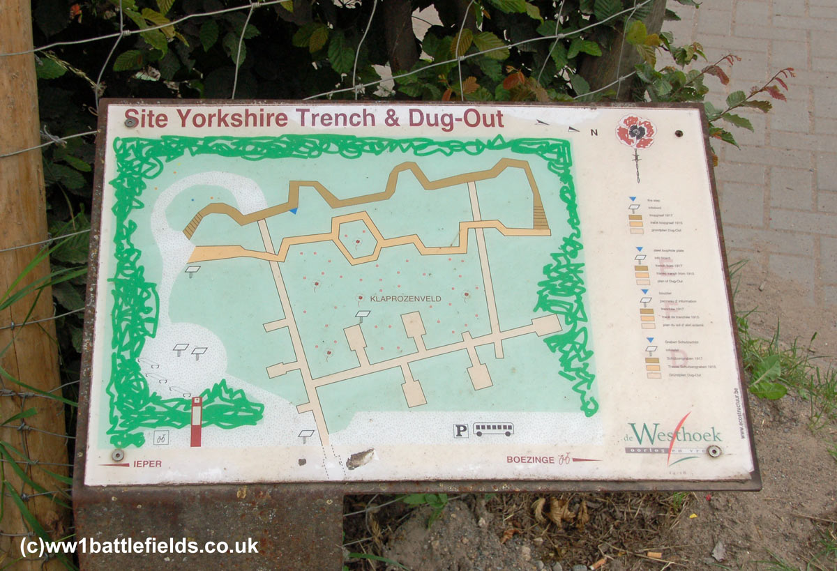 Information board at the Yorkshire Trench