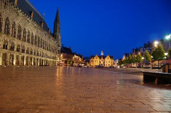 Ypres Cloth Hall at night