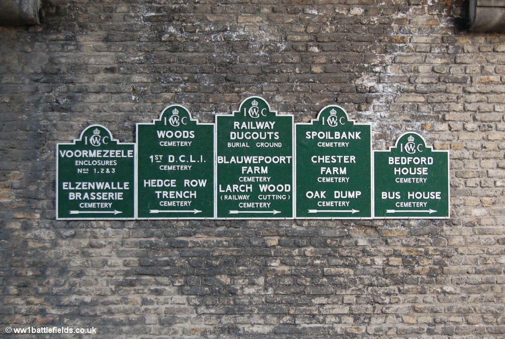 CWGC Signs, Lille Gate, Ypres