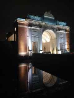 The Menin Gate at night
