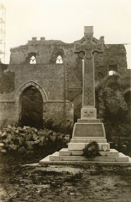 The Munster Memorial shortly after the War