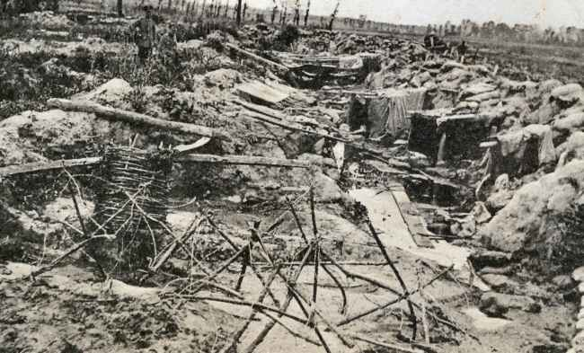 Captured British line, Langemark, April 1915