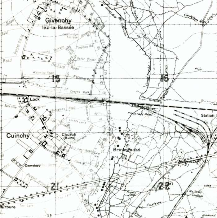 """Trench-map from June 1916"""