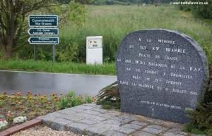 Memorial to World War Two Pilot Kenneth Bramble