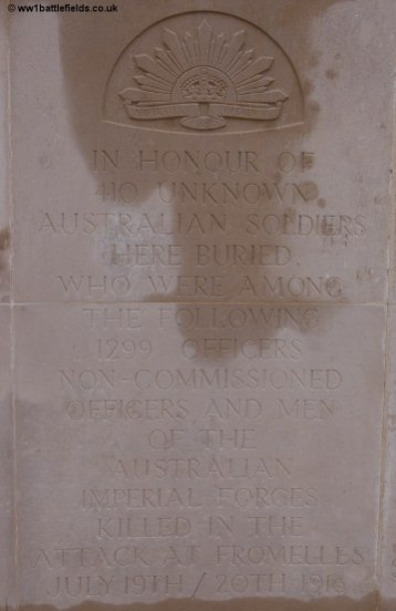 VC Corner Memorial to the Missing