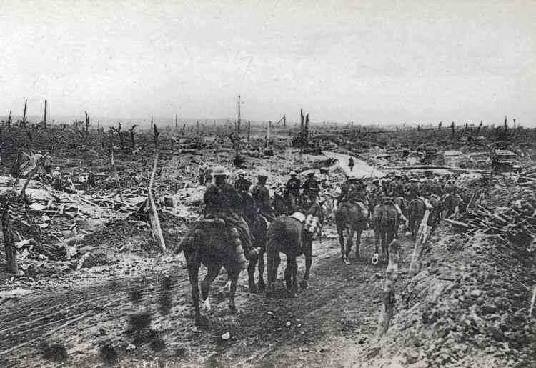 The site of Guillemont village during the War. Photo: Vise Paris