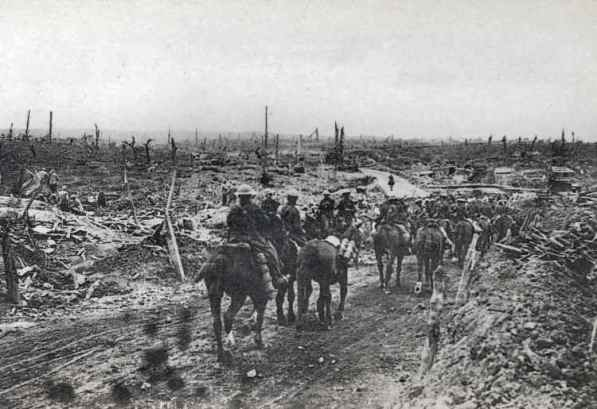 The site of Guillemont village during the War. Photo: Vise Paris
